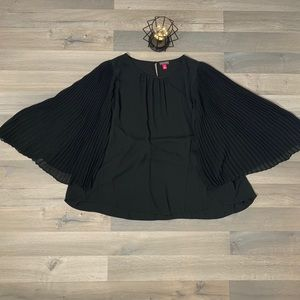 Vince Camuto Pleated Chiffon Sleeve Blouse